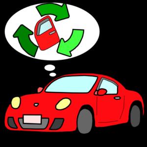 リサイクルパーツを利用している自動車