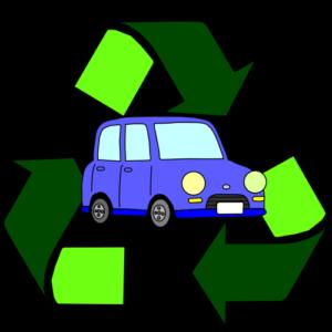 自動車がリサイクルされていることを示す画像